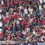 27´ La Fiel alienta con energía a los Rojinegros desde las gradas del Estadio Azteca.  ¡Vamos Atlas!   #SoyFiel http://t.co/tqHJgqSKlf