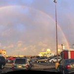 Awesome double rainbow in #Abilene tonight! ☔️???? @KTABTV http://t.co/UoJooBOVz6