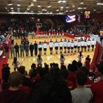 Just such a beautiful site to see! National Anthem being played in front of a packed McCann Arena! #BeatArmy http://t.co/wP3okEZF2i