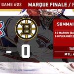 Cest terminé! Les Canadiens obtiennent une 16e victoire en blanchissant les Bruins 2 à 0! #GoHabsGo http://t.co/0sXtmjA7lf