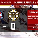 Its over! #Habs pick up their 16th win in a 2-0 win over the Bruins! #GoHabsGo http://t.co/Zoeek3rCbw