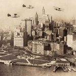 Planes Circling Over Battery Park in New York, 1922 | #NYC #NY | http://t.co/8TIxiQMPnh | http://t.co/N5aQdFHedL