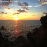 Puesta de sol vista desde la nueva webcam en la simbólica Quebrada de #Acapulco. ¡Qué tal! http://t.co/1i92lP2nJO