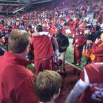 Says it all. Bret Bielema hugging every player as they come off the field. http://t.co/Jj2PgPEcIA