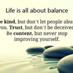 Life is about balance #psychology boost #mentalhealth. #BeKind #trust #BeContent http://t.co/vqIB6SwT2s