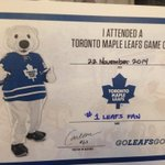 Want to commemorate attending tonights game? Visit Fan Services (119 & 301) and ask for a game certificate! #TMLtalk http://t.co/uoMqlzIJ5G