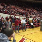 Devin Davis walks onto the Assembly Hall floor. #iubb http://t.co/zoKjaDdfhE