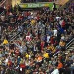 Huge amount of loud raptors fans here in Cleveland #RaptorsNation http://t.co/rpTGNNoDxS