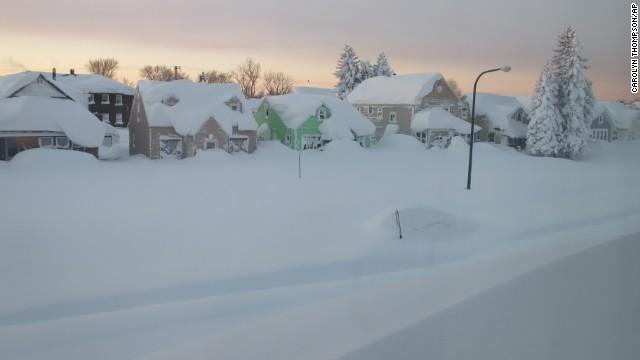 Buffalo, N.Y., area under flood warning as up to 7 feet of snow begins to melt. http://t.co/e19PPhC7tb http://t.co/mZVWROYOCF