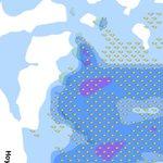 Entre las 00.00 y las 03.00 se incrementa el riesgo de precipitaciones. Bajo la mancha azul, #GC @ElTiempoes http://t.co/dSzOOX6fQZ
