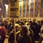 March for #AkaiGurley is in the streets heading to the precinct. #Enough! #cgangetheNYPD http://t.co/GSHzYrgDlp