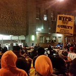 "The chant in front of #Brooklyns 75th #NYPD precinct: ""Killer Cops Must Go!"" #Justice For #AkaiGurley #NYC http://t.co/Zji8MKOM7l"