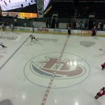 Were about 30 minutes away from puck drop. @MJWARRIORS and #WHLCanes in pregame warmups. #yql #fueledbypassion http://t.co/5zd0juBTiv