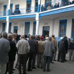 Waiting to vote in #Tunisias first free presidential elections, at a polling station in Bab Jdid #TnPrez http://t.co/McXhqgeUaK