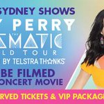 ON SALE TOMORROW 9AM! Two @katyperry SYD shows to be filmed as part of her concert movie http://t.co/ebTPA5EIaN http://t.co/RlFjHif6Ff
