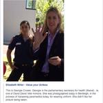 S0 Georgie Crozier harassing paramedics today? Shameful #springst #vicvotes http://t.co/ryg8O8VWdm