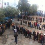 Soit les gens ont compris quils avaient le temps pour voter, soit y a beaucoup moins de monde. #TnElec #TnPrez http://t.co/IJH1VVVjWi