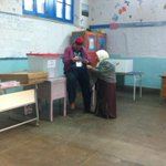 One of the first voters #tunisia #tnelec http://t.co/bMNhKvJmdY