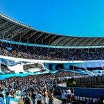#HoyJuegaRacing | Dejen todo en la cancha que nosotros dejamos todo en las tribunas. #Racing. #HoyExplotaElCilindro. http://t.co/zJpxkP4DfD