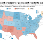 """""""@washingtonpost: Where people who got green cards in 2013 came from http://t.co/QorMiEtZCw http://t.co/IudMPHuY6X"""" #JebBush4President"""