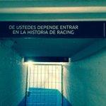 Jugadores: Recuerden esto... #Racing. #VamosRacing. #HoyJuegaRacing. #HoyExplotaElCilindro. #RacingPositivo. http://t.co/BRe1BTikOE