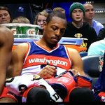 Paul Pierce just fouled out of the game and hes already signing his shoes for a fan. http://t.co/PeQyAGldVX