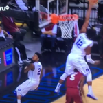 VIDEO: Duke's Justise Winslow jumps over a Stanford player to block his shot http://t.co/10y9JMfOqo http://t.co/XWAE2WIAm5