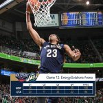 Behind a career-high 43 points (and 14 boards) from @AntDavis23, #Pelicans seal the W in Utah, 106-94. #TakeFlight http://t.co/Q3qb2yVj7Z