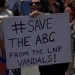 Save our ABC from LNP vandals #ourabc #auspol #nofibs #melbourne http://t.co/9fjt6jrSiM