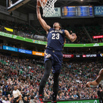 Anthony Davis scores career-high 43pts (16/23 FG) plus 14reb, 2stl, 1blk in the @PelicansNBA 106-94 W over @UtahJazz! http://t.co/qo8UJG0d0i