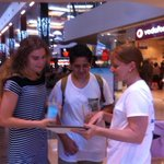 Mel and Nathalie tearing up Robina Town Center getting some pre-sales for http://t.co/hDidJMjIn0 #SWGoldCoast http://t.co/9mF0hLk9f1
