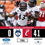 FINAL SCORE: Cincinnati 41, UConn 0 http://t.co/jTztruFqLO