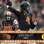 The #CivilWar has been selected to air on ABC and start at 5 p.m. on Nov. 29. #gobeavs http://t.co/N98zZimVLs