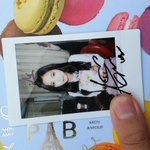 141123 Apinks autographed polaroids given out during SBS Inkigayo Pre-Recording - Naeun (cr: 08__18) http://t.co/6xxVNEXJmx