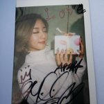 141123 Apinks autographed polaroids given out during SBS Inkigayo Pre-Recording - Bomi http://t.co/ohHRv7fqVe