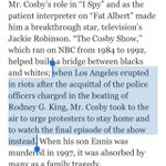 Cosby telling Black ppl not to protest Rodney Kings beating was admirable, says NYTimes http://t.co/twzhQyQQz0 http://t.co/8JWymOMQyg