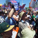 Enthusiastic ABC lovers ready for the fight to Save #OurABC at the #Melbourne Rally #nofibs #auspol http://t.co/PhAJbph7un
