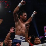.@MannyPacquiao celebrates the victory with fans in Macau after the official #PacAlgieri results were announced http://t.co/SOUmozMMUP