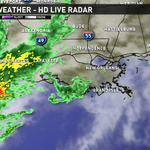 Arredondo: Light showers along coast. Storms still well west of us.  Storms expected between 6am & Noon. http://t.co/ozJ4mar1zJ