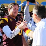 @Taylor_Kelly10 & @CoachGrahamASU getting ready to go to battle together for the last time in SDS! #SeniorDay http://t.co/7IYUJGH7QG