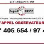 Votons et dénonçons tte infraction ou irrégularité : numéros suivants de ATIDE. #TnPrez #TnElec14 http://t.co/x1pXjeSq9u