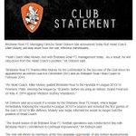 Statement from Brisbane Roar regarding Mike Mulvey: http://t.co/aNpdufgiRl