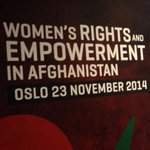 Im honored to lead the U.S. delegation at #AfghanWomenOslo and discuss how we can advance gains made. http://t.co/cU4XyRwKZr