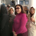 These women wait to caste ballots in #Tunisias first free presidential election... yet another first #TnPrez http://t.co/pbnx8uWNJD