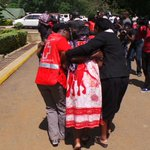 #KRCS team comforting families of the victims of #ManderaBusAttack at Chiromo mortuary http://t.co/zkPYo9cE03