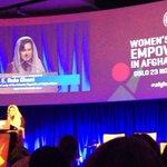 """Afghan women should reclaim their past"" says Rula Ghani at the #AfghanWomenOslo symposium. @USAIDAfghan http://t.co/hLZIB1ypws"