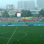 Even heavy rain cant dampen mood of #Myanmar fans ahead of their national teams #AFFSuzukiCup opener VS #Malaysia http://t.co/ZzeqL0L2Jz