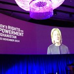 No nation can make progress if half its population is left behind- @HillaryClinton in greeting to #AfghanWomenOslo http://t.co/TW7RvkLloT