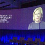 Hillary Clinton sends video message of support 2 Afghan women at Oslo event #afghanwomenoslo Another great role model http://t.co/zPRWR8Z5k7