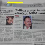 Oman News Paper : Times of Oman news heading :Taliban Group Claims attack on MQM Camp @WasayJalil @azizabadi http://t.co/Zoi5jBOORZ